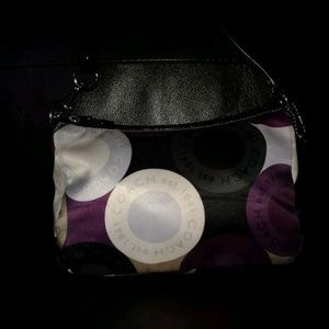 Coach 43881 snaphead orint satin handbag
